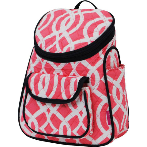 SALE ! Vine Pattern Coral NGIL Quilted Mini Backpack