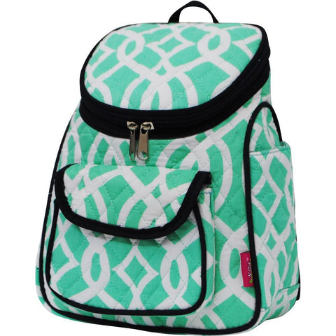 Vine Pattern Mint NGIL Quilted Mini Backpack
