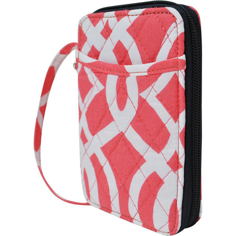 Vine Pattern Coral NGIL Quilted Wristlet Wallet