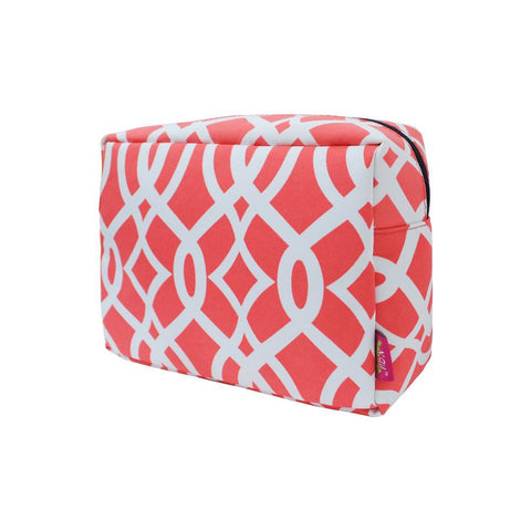 SALE ! Vine Pattern Coral NGIL Large Cosmetic Travel Pouch