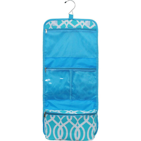 Vine Pattern Aqua NGIL Traveling Toiletry Bag