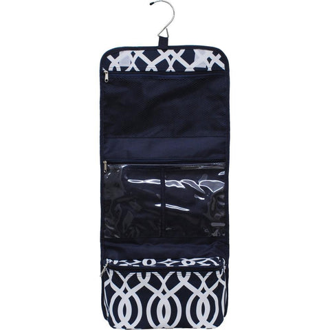 Vine Pattern Navy NGIL Traveling Toiletry Bag