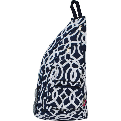 40% OFF MUST GO SALE-Vine Pattern Navy NGIL Sling Backpack