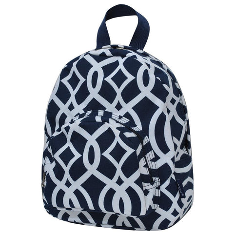 Vine Pattern Navy NGIL Canvas Mini Backpack