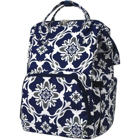 Quatro Vine Pattern NGIL Diaper Bag/Travel Backpack