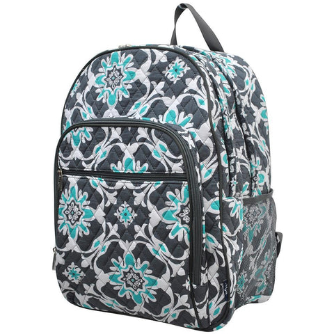 Quatro Vine Quilted Large School Backpack
