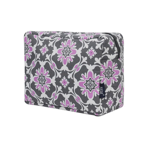 Purple Quatro Vine NGIL Large Cosmetic Travel Pouch