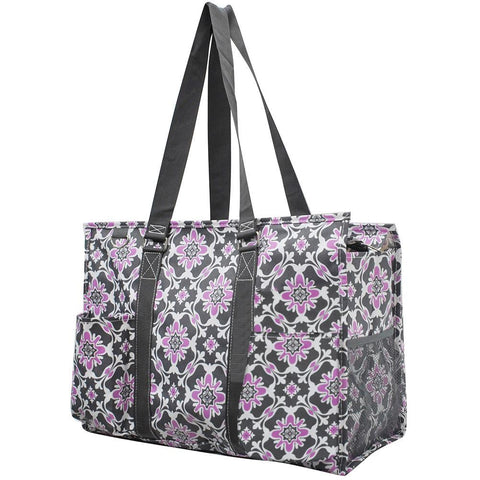 Personalized Bag, Monogrammed Zippered Tote Bag, personalized tote bags wholesale, personalized bags for nurses, personalized gifts for her, nurse tote bag personalized, teacher gift bag, purple and grey tote bag.