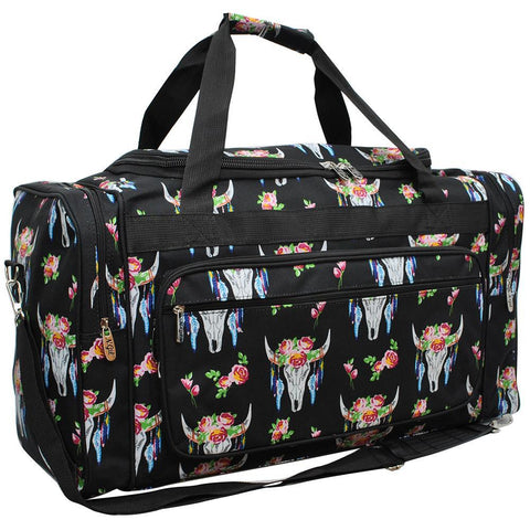 "Bull Skull NGIL Canvas 23"" Duffle Bag"
