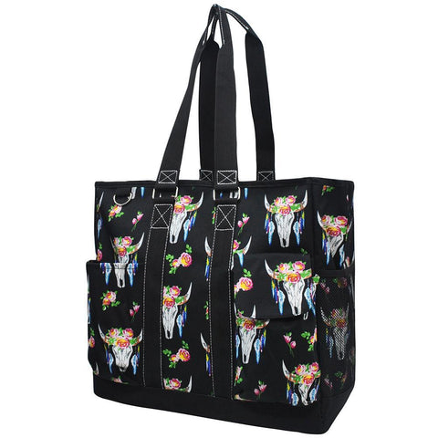 Bull Skull NGIL Tall Canvas Tote Bag