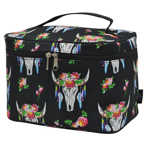Bull Skull NGIL Large Top Handle Cosmetic Case