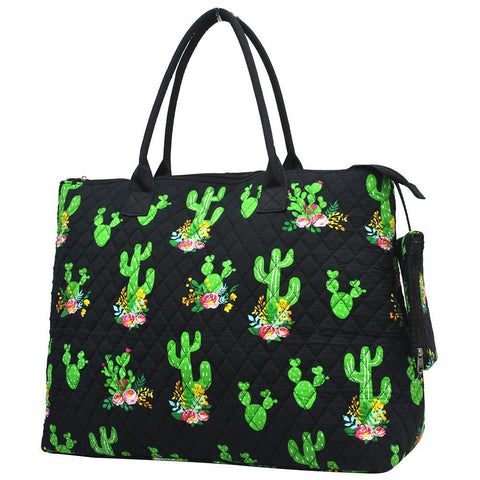 Cactus NGIL Quilted Overnight Tote Bag