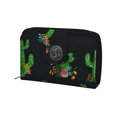 Cactus NGIL Quilted Twist Lock Wallet