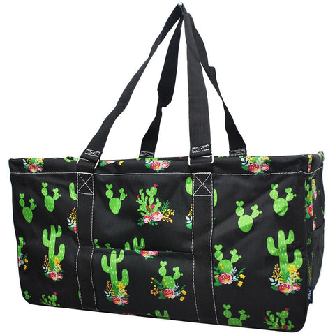 Utility Tote, NGIL, storage, picnic bag, shopping bag, beach bag, collapsible, personalized bag, Ultimate tote bag, carry all, Embroidered Tote Bag, monogram tote bag, monogram tote cheap, teacher bag and totes, cactus canvas tote, cute cactus gift