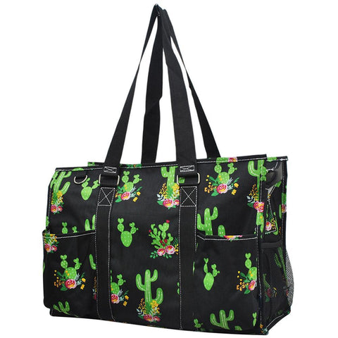 Personalized Bag, Monogrammed Zippered Tote Bag, personalized tote bags wholesale, personalized bags for nurses, personalized gifts for her, nurse tote bag personalized, teacher gift bag, cactus print tote, cactus beach tote.