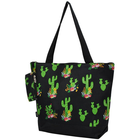 NGIL Brand, Personalized Travel Bag, cactus canvas tote bag, cactus plant tote bag, monogram gift ideas, personalized accessories for mom, gifts for mom, nice tote bags for work, nice canvas tote bag, nice women's tote bag, ngil tote bags.