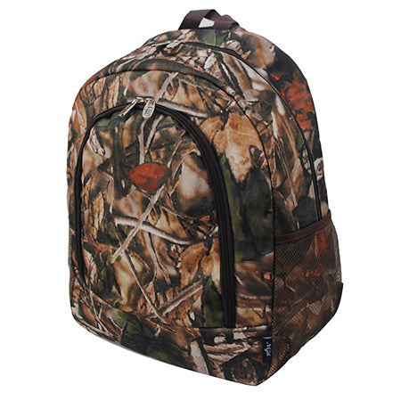 Brown Camouflauge NGIL Canvas School Backpack