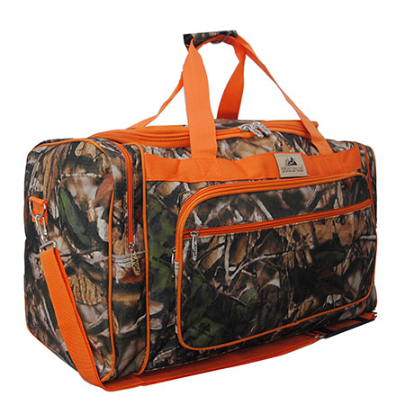 "Orange Camouflage NGIL Canvas 23"" Duffle Bag"