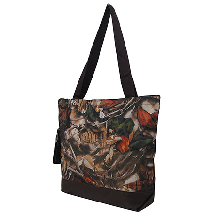 Brown Camouflage NGIL Canvas Tote Bag