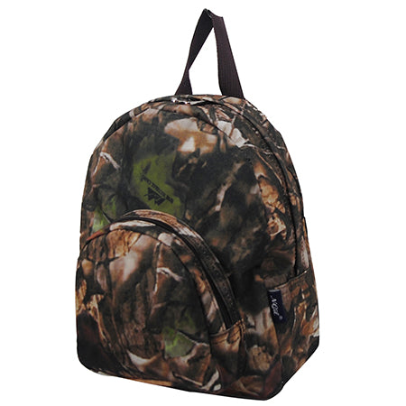Brown Camouflage Canvas Mini Backpack