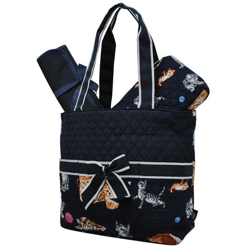 HOT ! SALE ! Cat Playground World NGIL Quilted 3pcs Diaper Bag