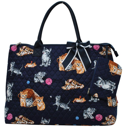 Cat Playground World NGIL Quilted Overnight Tote Bag