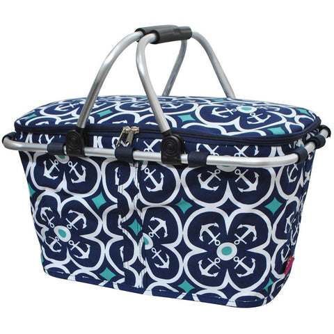 Flower Anchor NGIL Insulated Market Basket
