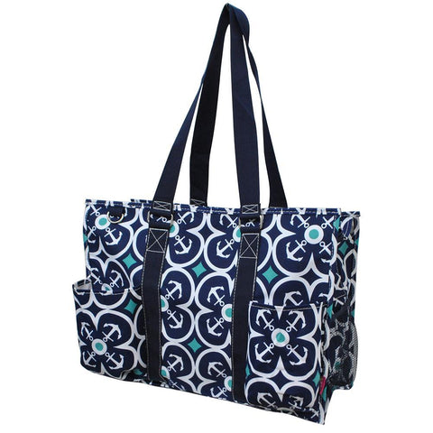 Flower Anchor NGIL Zippered Caddy Large Organizer Tote Bag