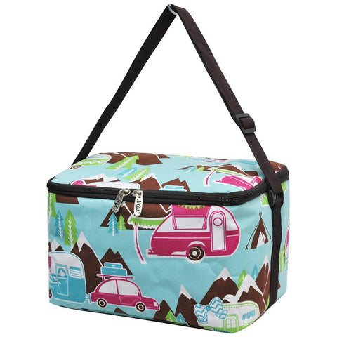 Happy Camper Brown NGIL Insulated Cooler Bag/Lunch Box