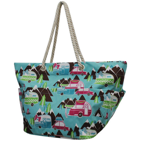Happy Camper NGIL Rope Handle XL Beach/Tote Bag