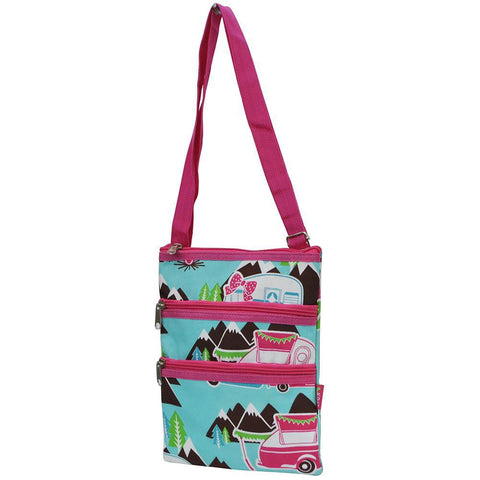 Hot Pink Happy Camper NGIL Mesenger Hipster Bag
