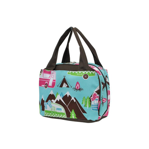 Happy Camper Brown NGIL Insulated Lunch Bag