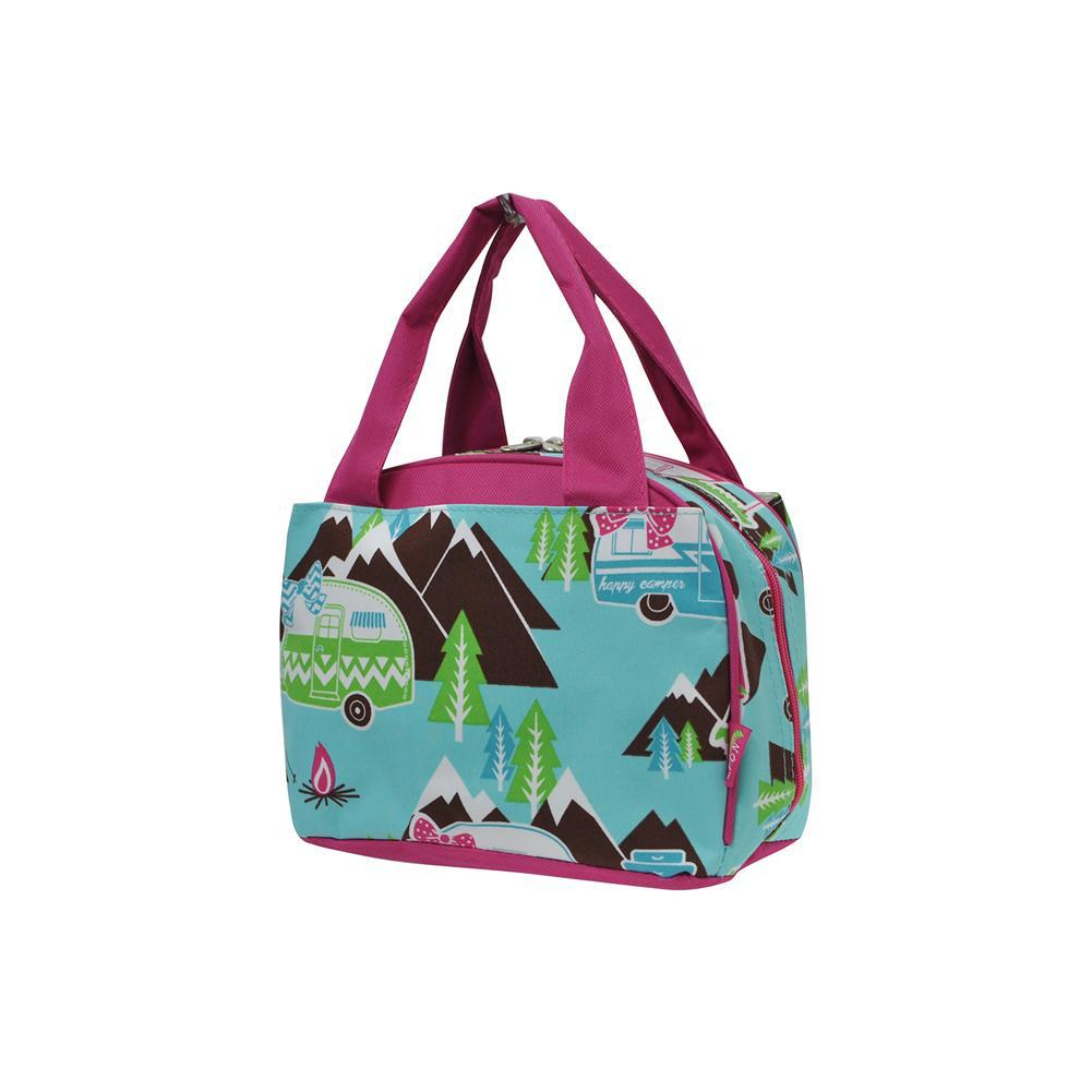 Happy Camper Hot Pink NGIL Insulated Lunch Bag