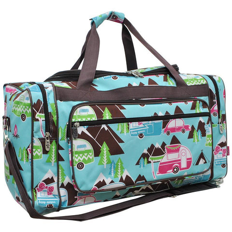 CARRY ON duffle, duffel, monogram duffel bag girls, personalized duffel bag women, CAMP DUFFLE BAG IDEAS, road trip bag ideas, weekender bag monogram, weekend bag monogram, travel bag monogram, happy camper duffel bag, happy camper theme bag, camping duffel bag, trip duffel bag.