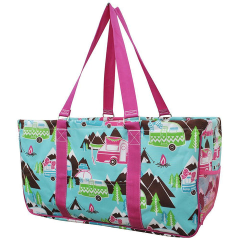 Monogram gift ideas, monogram tote for nurse, NGIL, personalized tote bag, teachers' gift in bulk, happy camper gift for women, camper gift ideas, camper gifts for her, happy camper large utility tote,