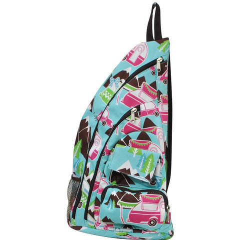 Happy Camper Brown NGIL Sling Backpack