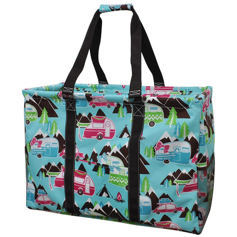 monogram tote bags, monogram tote bags for teachers, happy camper utility tote, happy camper essential storage tote, monogram tote bag canvas, monogram tote canvas, monogram tote bags in bulk, monogram gifts for her, monogram gifts for women, personalized tote with zipper.