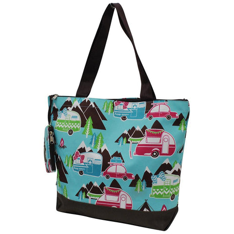Happy Camper Brown NGIL Canvas Tote Bag