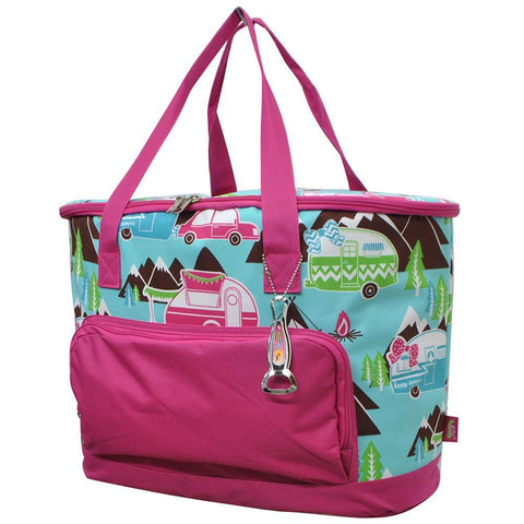 Happy Camper Hot Pink NGIL Cooler Bag