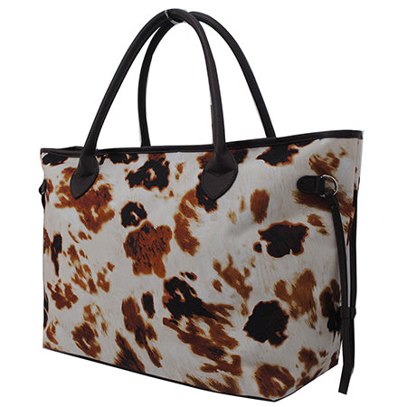 Cow Print NGIL Overnight Travel Bag