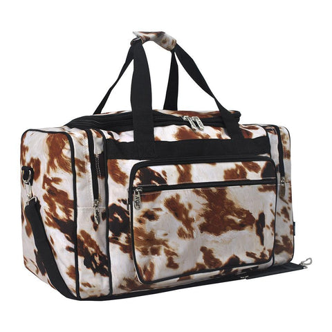 Personalized Front /& Back Cowprint Cowgirl Ladies Workout Bag