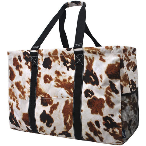 Cow Print NGIL Mega Shopping Utility Tote Bag