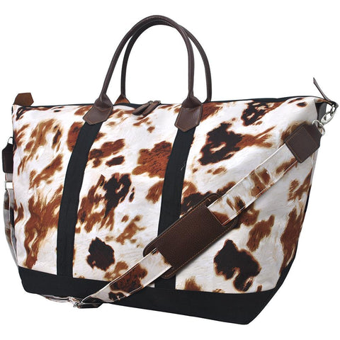 Personalized weekender tote bags, cute cow travel bag, cow skin traveling bag, cow skin weekender, personalized leather weekender bag, monogrammed weekender travel bag, monogrammed weekender tote bag, cute weekender duffle bags, cute weekender tote bags, customized women's weekender,