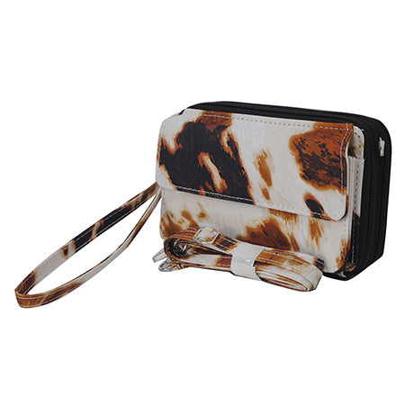 Cow Print NGIL Canvas All in One Wallet
