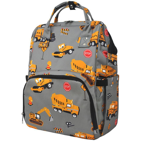 Construction Trucks NGIL Diaper Bag/Travel Backpack