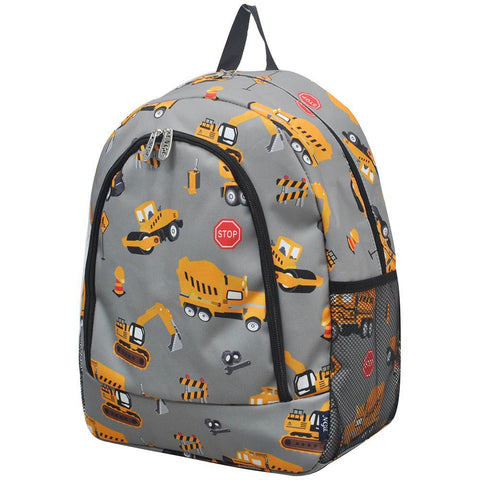 Construction Truck NGIL Canvas School Backpack