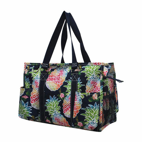 Summer Tote Bag, Personalized Gift Idea For Pineapple Lovers, Colorful Pineappe tote bag wholesale.