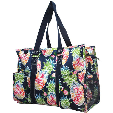 Personalized Bag, Monogrammed Zippered Tote Bag, personalized tote bags wholesale, personalized bags for nurses, personalized gifts for her, nurse tote bag personalized, southern gift bag, colorful pineapple print tote, pineapple beach tote.