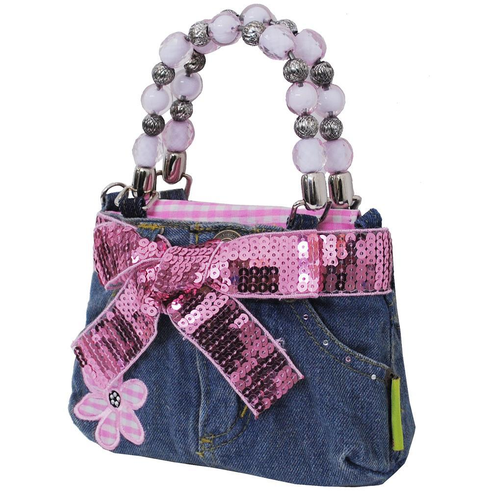 Flower Pink NGIL Denim Bootie Bag