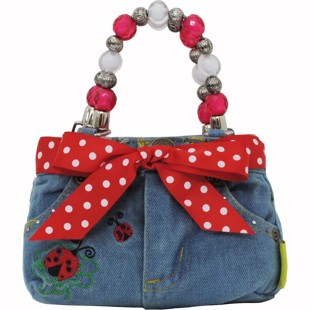 Lady Bug NGIL Denim Bootie Bag